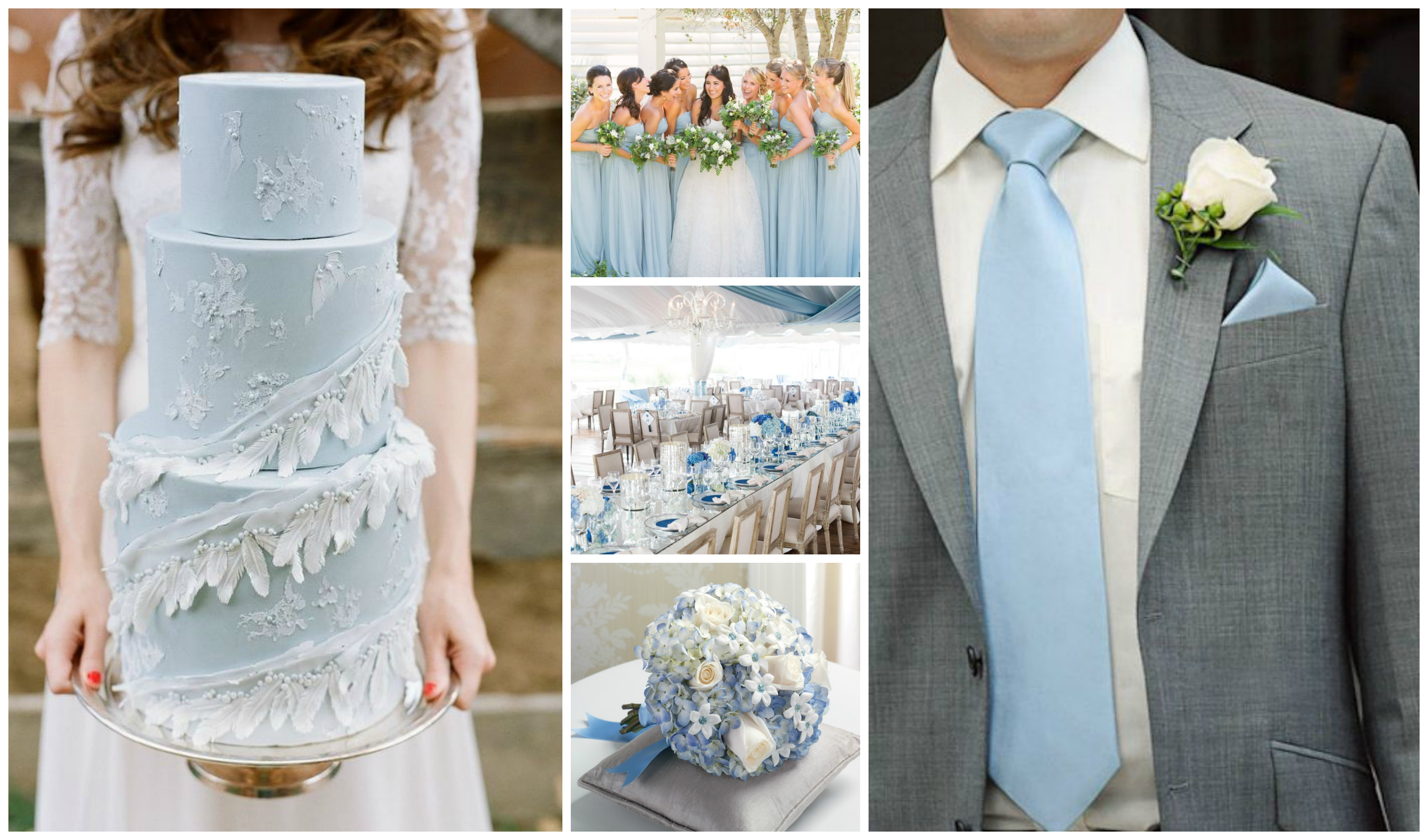 pale blue wedding flowers