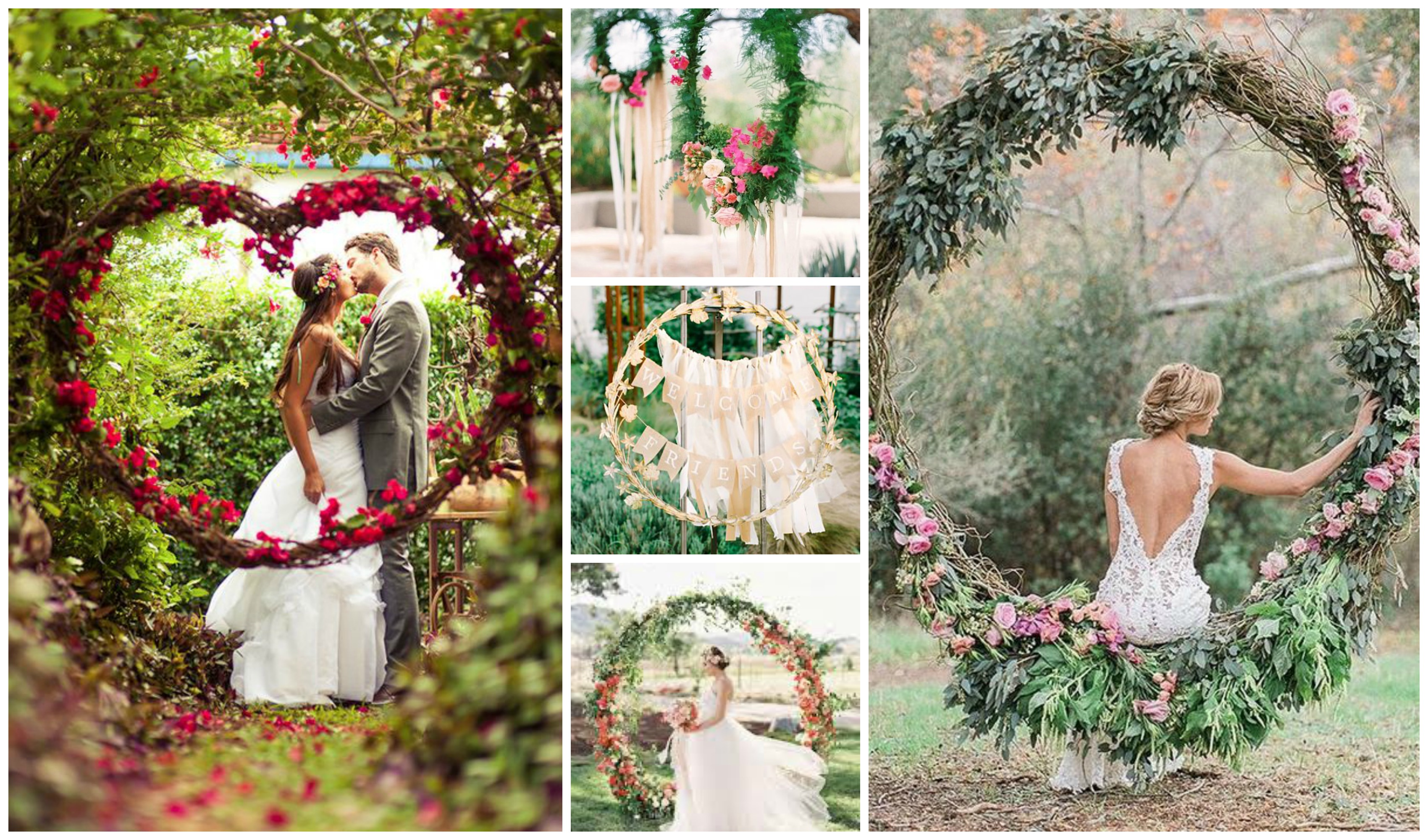 wedding floral hoops wreaths