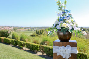 outdoor wedding ceremony centerpiece