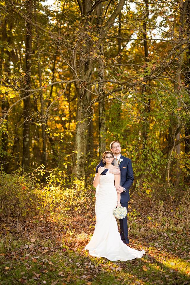 bride and groom woods pittsburgh wedding