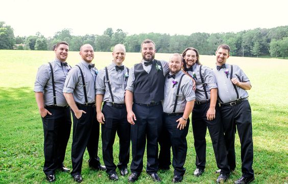 groom and groomsmen summer wedding at foggy mountain lodge